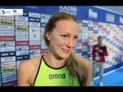 Sarah Sjostrom wins third straight 100m butterfly gold at World Championships