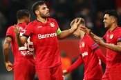 Bayer Leverkusen 2-1 Atletico Madrid: Volland strikes to blow Group D open