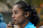 Coronavirus in sport: Hima Das donates one month's salary to Assam government