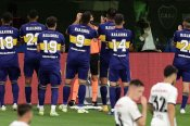 Boca players in moving Maradona tribute to legend's daughter: 'To honour the best, you must play well'