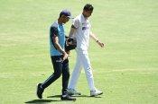 Saini bowled despite injury in the second innings at Brisbane