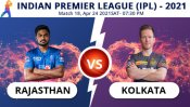 IPL 2021: RR vs KKR, Match 18 Toss, Playing XI: Rajasthan Royals win toss and elect to field
