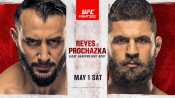 UFC Vegas 25: Reyes vs. Prochazka fight card, date, time in India and where to watch