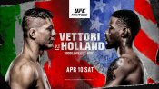 UFC Vegas 23: Vettori vs. Holland fight card, date, India time and where to watch