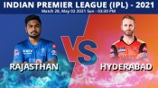 IPL 2021, RR vs SRH Match 28 Toss and Playing 11 report: Sunrisers opt to bowl, Warner dropped