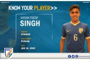 AFC U-16 Championship: India U-16 striker Vikram Pratap Singh backing his instincts for good show