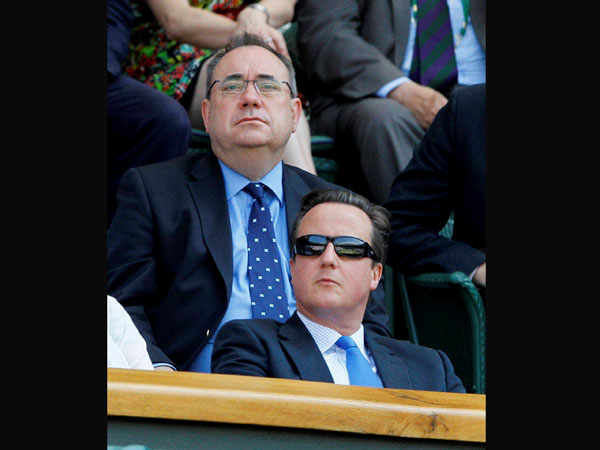 British PM David Cameron watches the final