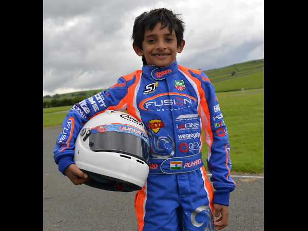 Karting 8 Year Old Bangalore Boy Ruhaan Shines England