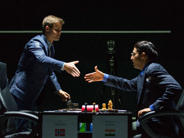 World Chess Championship Anand Carlsen Split Points Again 10th Game
