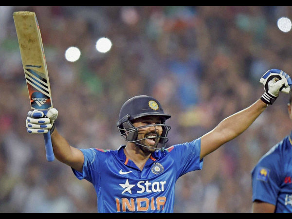 Rohit is ecstatic with his double ton