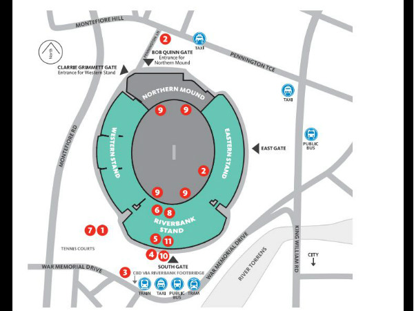 Adelaide Oval Map Know your ICC World Cup 2015 venue   Adelaide Oval   myKhel Adelaide Oval Map
