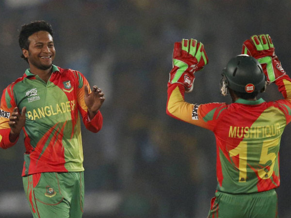 File photo of Shakib Al Hasan (left)