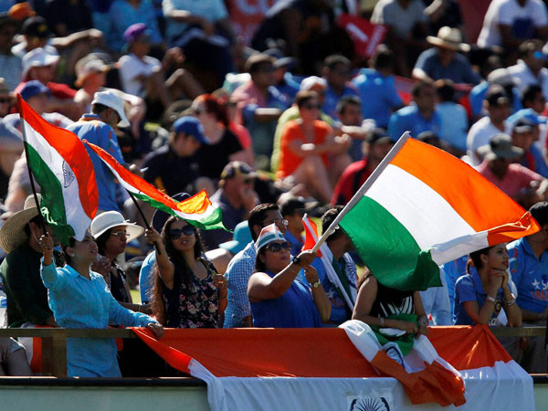 Indian fans at the ground