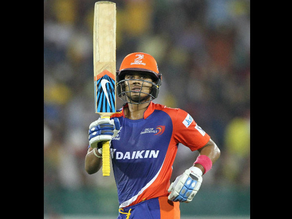 Shreyas Iyer celebrates his half century against CSK