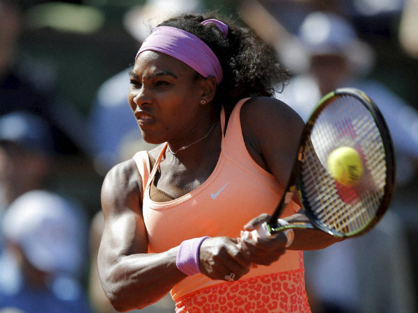 Serena in action during the semi-final
