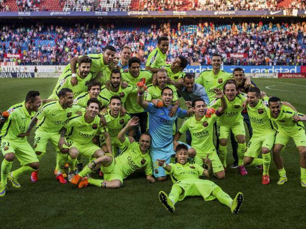 867efb8c0 File photo  Barcelona celebrating their La Liga title win last month