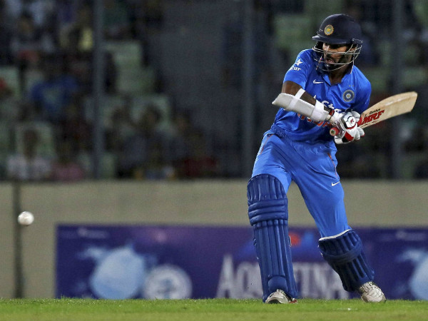 Shikhar Dhawan topscored with 75