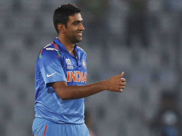 Ashwin celebrates a wicket in a ODI