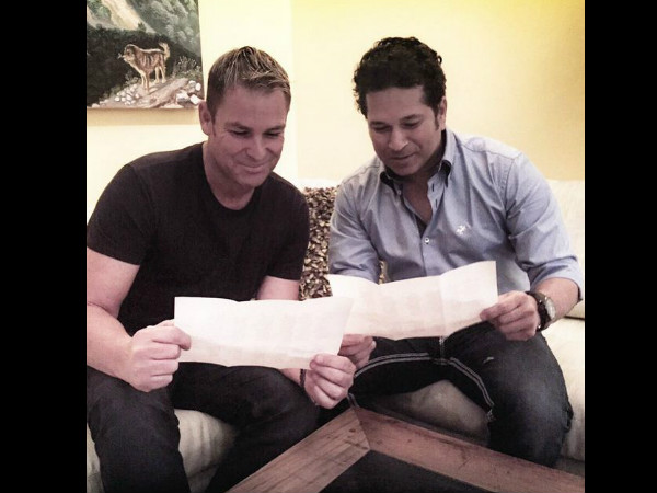 File photo: Warne (left) and Tendulkar