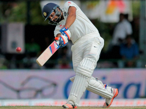 Rohit Sharma plays a shot in the 3rd Test