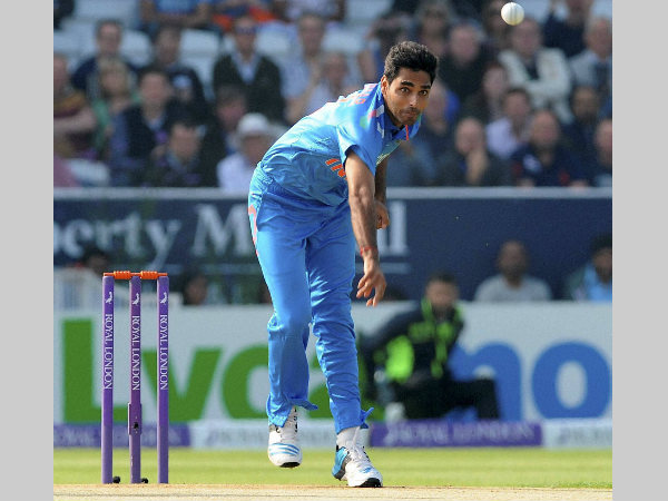 A file photo of Bhuvneshwar Kumar bowling in a ODI