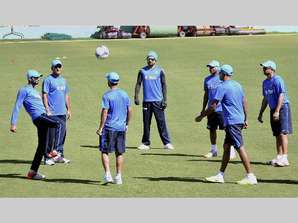 A bit of football before cricket for Indian players