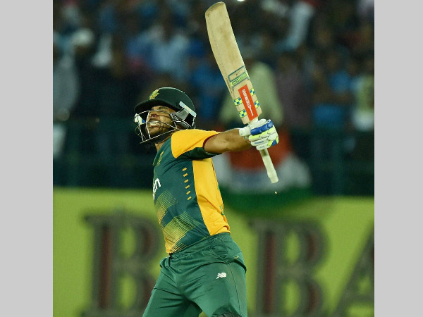 JP Duminy is yet to be dismissed in the series
