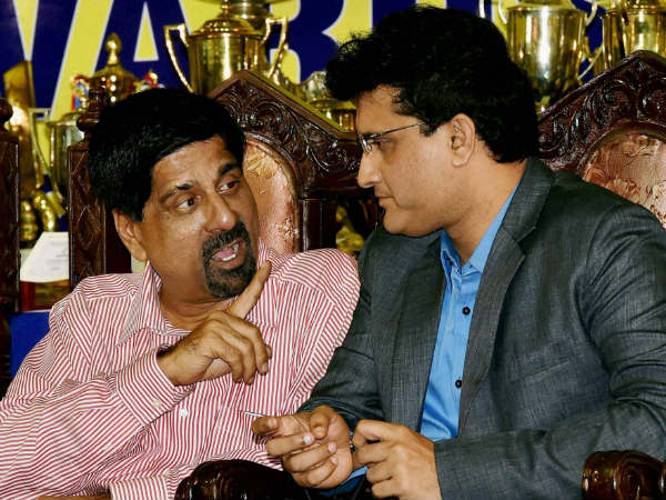 File photo: Srikkanth (left) with Sourav Ganguly