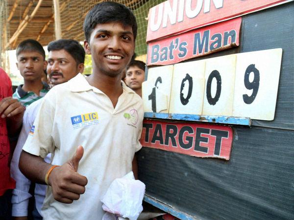 World Record 1000 Plus Scorer Pranav Dhanawade Felicitated