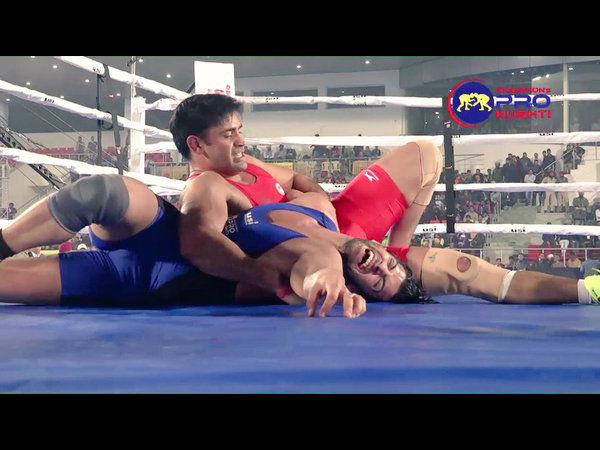 Sangram Singh Wins Champion S Pro Kushti Inaugural Bout