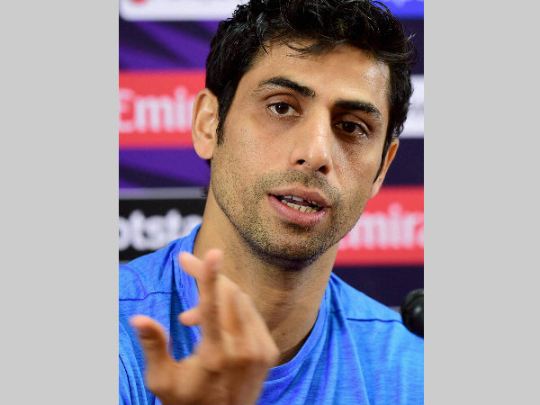 Ashish Nehra speaks to the media in Bengaluru on Tuesday (March 22)