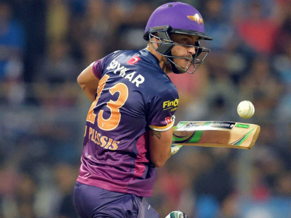 File photo: Faf du Plessis in action during IPL 2016