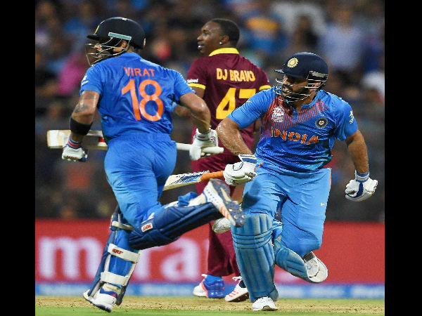 Virat Kohli and skipper Mahendra Singh Dhoni steered Indian innings well during middle overs