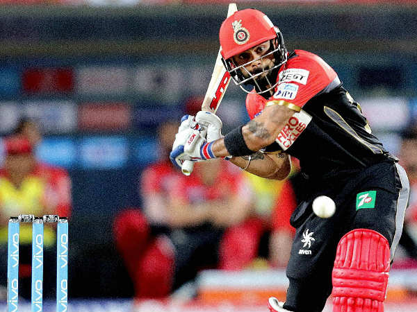 Virat Kohli in action against Pune last night (April 22)