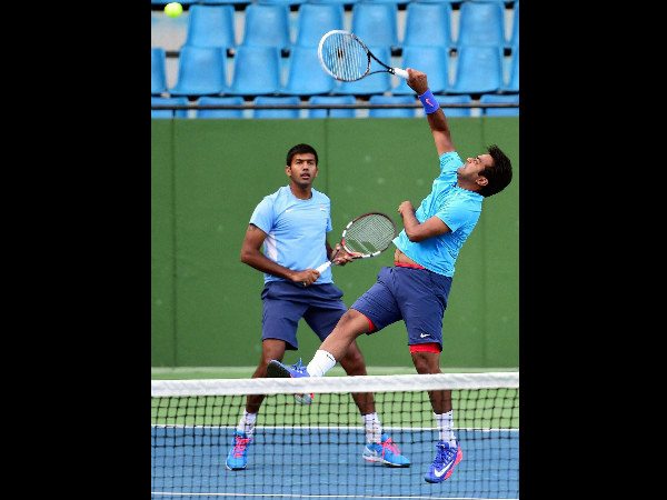 Leander Paes (right) and Rohan Bopanna will play the doubles