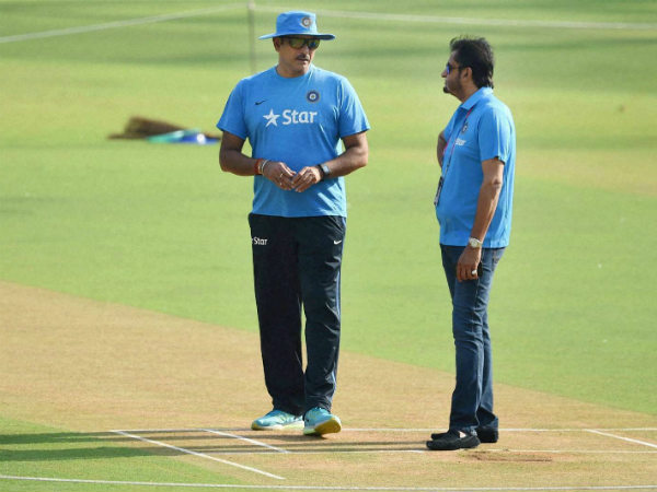 File photo: Sandeep Patil (right) with Ravi Shastri