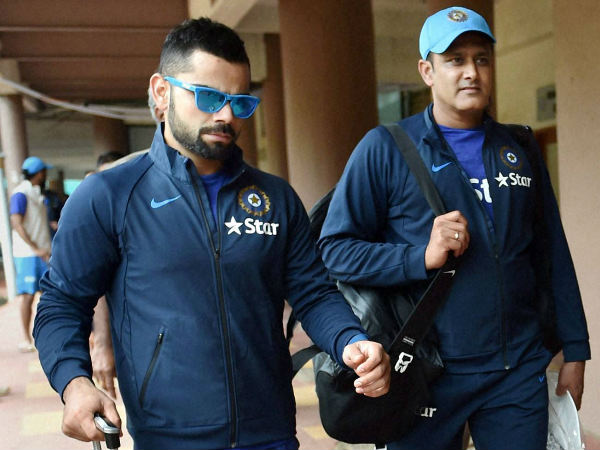First match for Kohli (left) and Kumble captain-coach combination