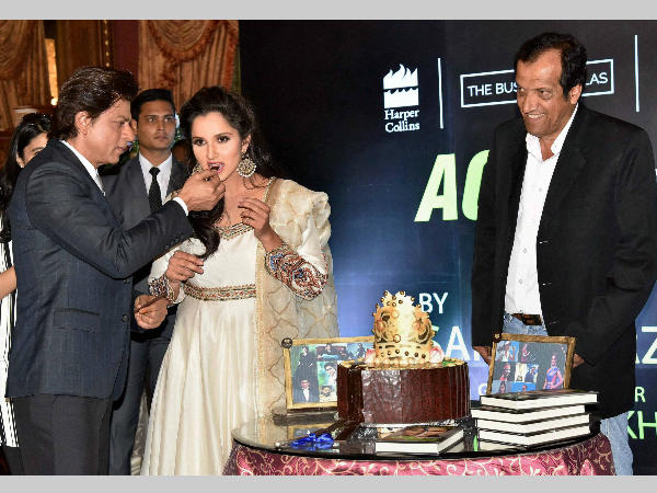 Shah Rukh Khan launches Sania Mirza's autobiography, calls her 'rani