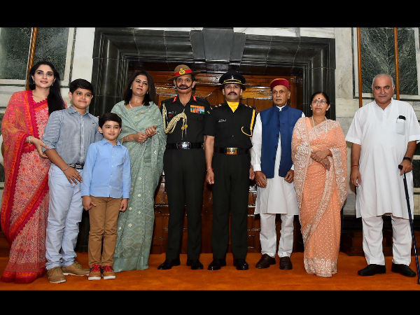 Anurag Thakur with his family