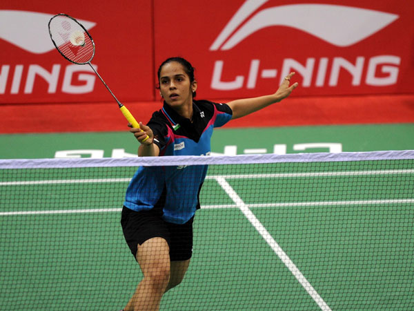 Ace Indian shuttler Saina Nehwal in action