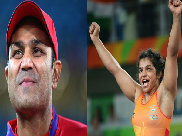 When Virender Sehwag urged Sakshi Malik not to wrestle with him