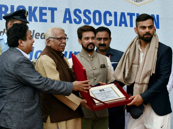 Kohli honoured by UP Governor