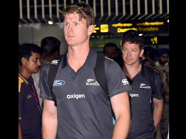 James Neesham arrives at Kolkata