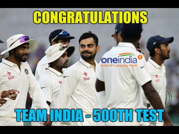 A file picture of Indian players during a Test