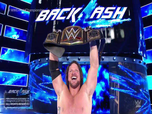 0cc1247957dbc WWE Backlash 2016  Twitterati react to the show and new champion AJ ...