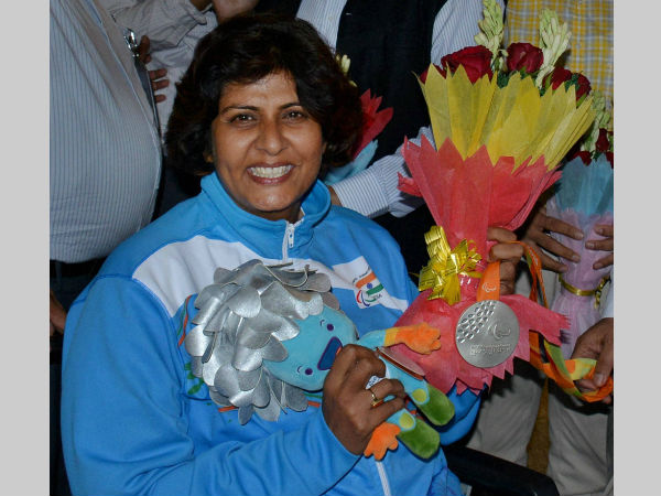 Deepa Malik with her Rio Paralympics silver medal