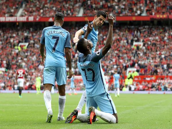 Kelechi Iheanacho celebrates his goal (Image courtesy  Manchester City  Twitter handle) 8de4af30a