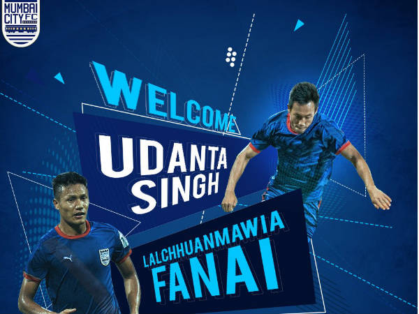 Mumbai City FC sign Fanai and Udanta (Image courtesy: Mumbai City FC Twitter handle)