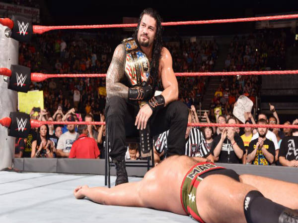 Roman Reigns defended his US title against Rusev (image courtesy: wwe.com)