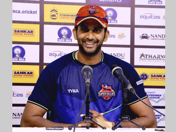 Chepauk Super Gillies' captain R Sathish speaks to the media ahead of their semi-final